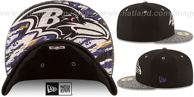 faabd377c3528e Baltimore Ravens 2016 NFL DRAFT Fitted Hat by New Era