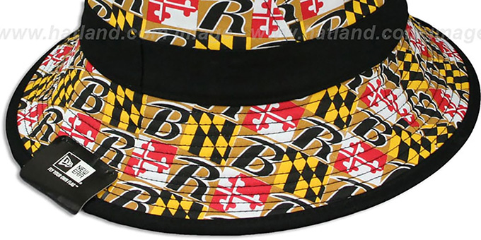 Ravens 'ALL-OVER MARYLAND FLAG BUCKET' Hat by New Era