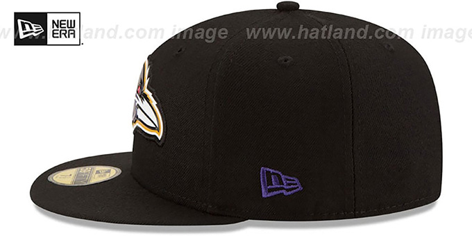 Ravens 'BEVEL' Black Fitted Hat by New Era