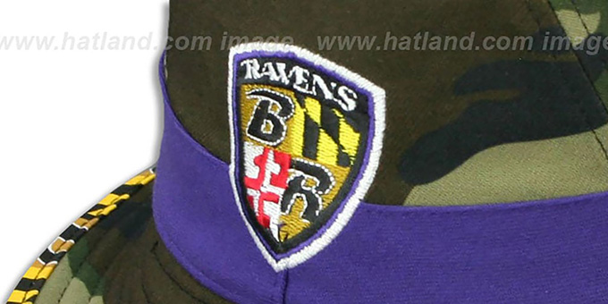 Ravens 'ARMY CAMO MARYLAND FLAG BUCKET' Hat by New Era