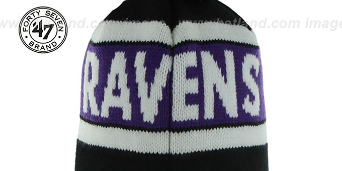 Ravens 'CRANBROOK' Knit Beanie Hat by Twins 47 Brand