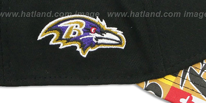Ravens 'MARYLAND FLAG FLEX' Black-Flag Hat by New Era