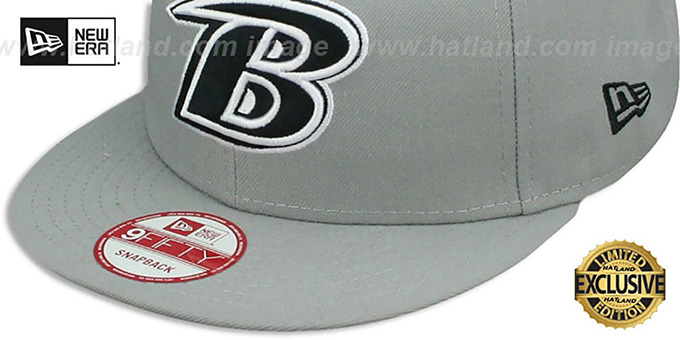 Ravens 'NFL B TEAM-BASIC SNAPBACK' Grey-Black Hat by New Era
