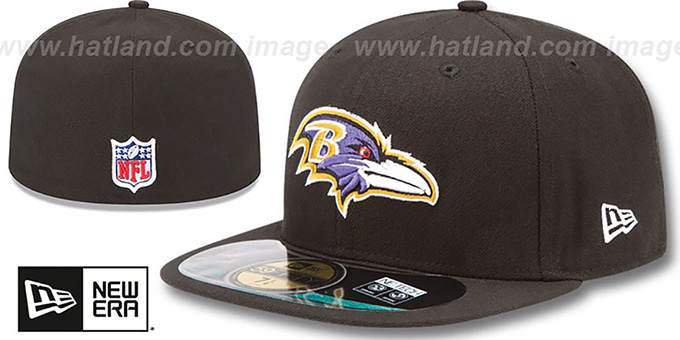 Ravens 'NFL BCA' Black Fitted Hat by New Era