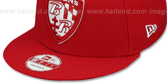 Ravens 'SHIELD TEAM-BASIC SNAPBACK' Red-White Hat by New Era
