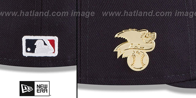 Red Sox 'GILDED TURN' Navy Fitted Hat by New Era