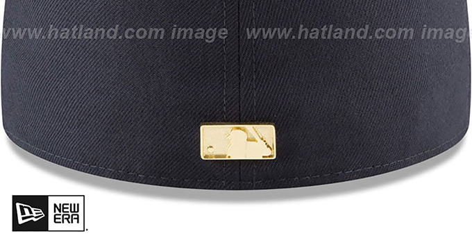 Red Sox 'GOLDEN-BADGE' Navy-Red Fitted Hat by New Era