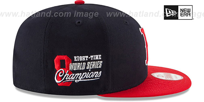Red Sox 'MLB STAR-TRIM SNAPBACK' Navy-Red Hat by New Era