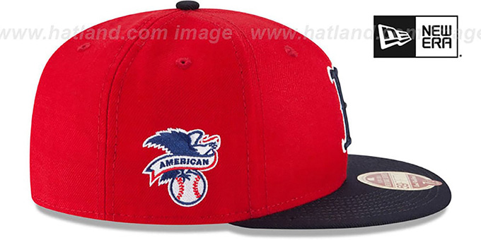 Red Sox 'MLB WOOL-STANDARD' Red-Navy Fitted Hat by New Era
