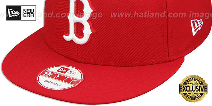 Red Sox 'TEAM-BASIC SNAPBACK' Red-White Hat by New Era