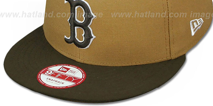 Red Sox 'TEAM-BASIC SNAPBACK' Wheat-Brown Hat by New Era