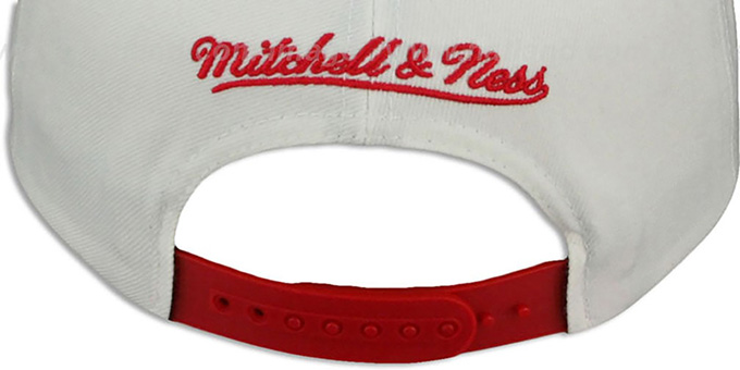 Red Wings 'HOMESTAND SNAPBACK' White-Red Hat by Mitchell & Ness