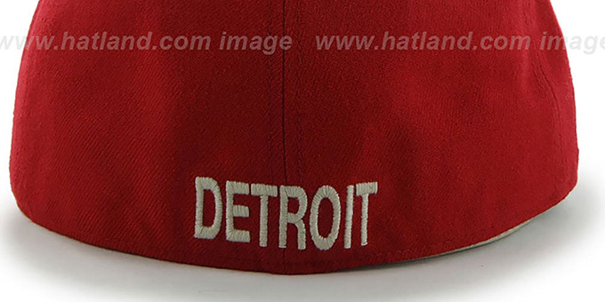 Red Wings 'NHL CATERPILLAR' Red Fitted Hat by 47 Brand