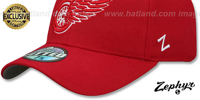 Red Wings 'SHOOTOUT' Red Fitted Hat by Zephyr