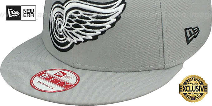 49645b4f ... netherlands red wings team basic snapback grey black hat by new era  be438 03f46