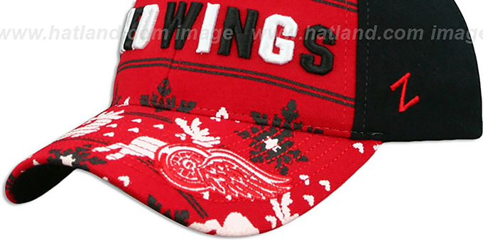 Red Wings 'UGLY SWEATER FLEX' Black-Red Hat by Zephyr