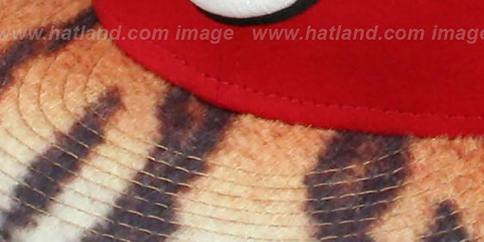 Reds 'TIGER ANIMALISTIC-FUR VIZA STRAPBACK' Hat by New Era