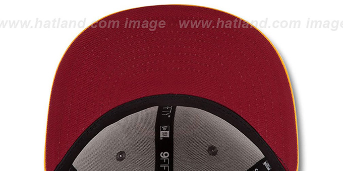 Redskins '2014 NFL DRAFT SNAPBACK' Burgundy-Gold Hat by New Era