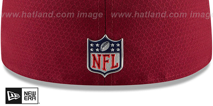 27eb7f4d1e5 ... Redskins  HONEYCOMB STADIUM  Burgundy Fitted Hat by New Era