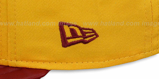 Redskins 'NFL ENGLISH-WORD SNAPBACK' Gold-Burgundy Hat by New Era