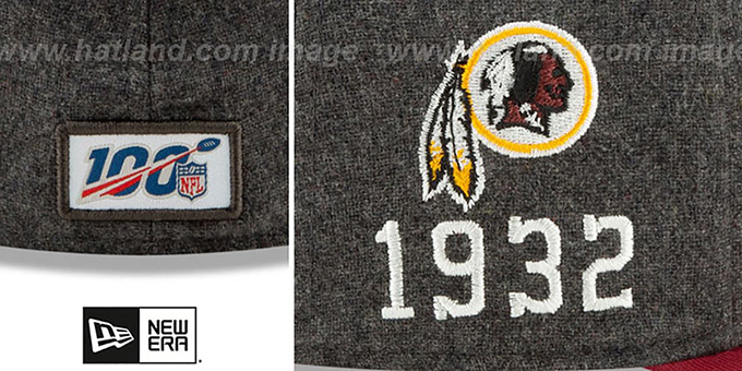 Redskins 'ONFIELD SIDELINE HOME' Charcoal-Burgundy Fitted Hat by New Era