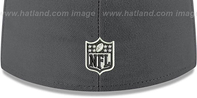 Redskins 'SHADER MELT-2' Grey-Burgundy Fitted Hat by New Era