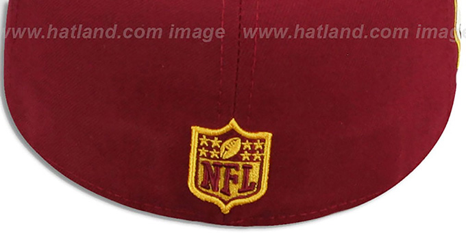 Redskins 'SIDE TEAM-PATCH' Burgundy Fitted Hat by New Era
