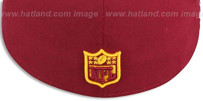 ... Redskins  SUPER BOWL XVII  Burgundy Fitted Hat by New Era 7f93c338c