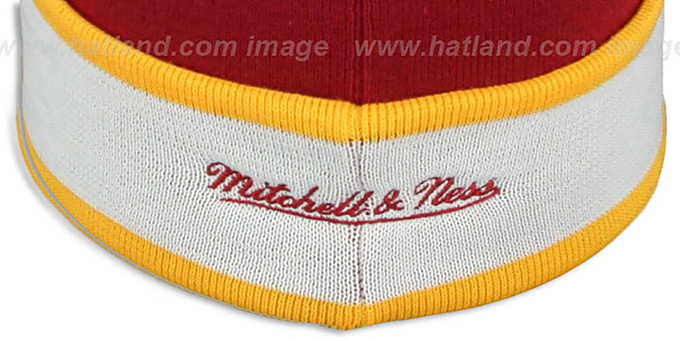 Redskins 'THE-BUTTON' Knit Beanie Hat by Michell and Ness