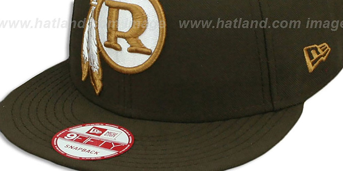 Redskins 'THROWBACK TEAM-BASIC SNAPBACK' Brown-Wheat Hat by New Era