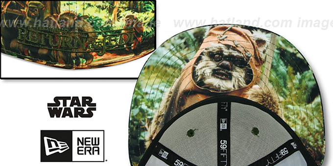 Return of the Jedi 'ALL-OVER BATTLE' Fitted Hat by New Era