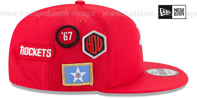 Houston Rockets 2018 NBA DRAFT SNAPBACK Red Hat by New Era f3cd469dd