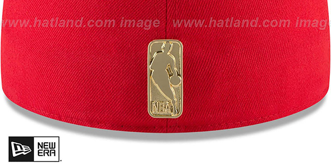 Rockets 'GOLDEN-BADGE' Red-Black Fitted Hat by New Era