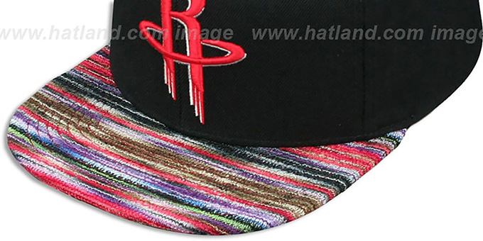 Rockets 'KNIT-WEAVE SNAPBACK' Black-Multi Hat by Mitchell and Ness
