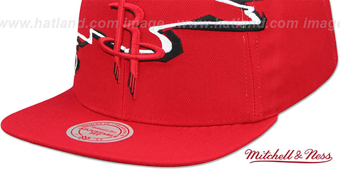 Rockets 'SWIFTER SNAPBACK' Red Hat by Mitchell and Ness