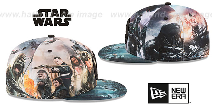 Rogue One 'ALL-OVER BATTLE' Fitted Hat by New Era
