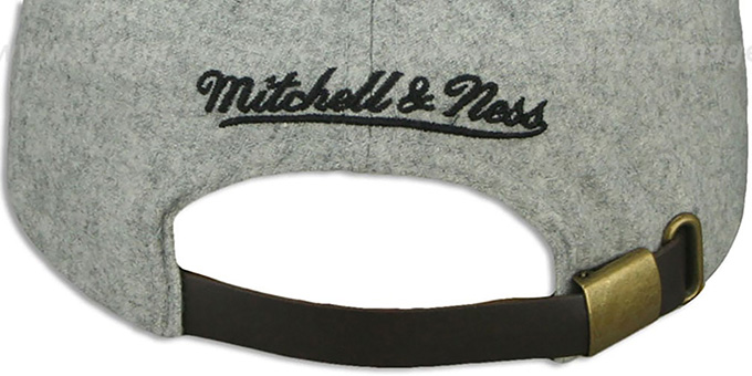 Saints '2T TAILSWEEPER STRAPBACK' Grey-Black Hat by Mitchell & Ness