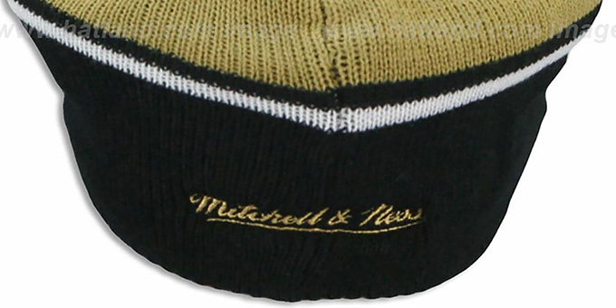 Saints 'RERUN KNIT BEANIE' by Mitchell and Ness