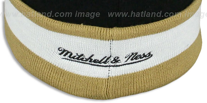 Saints 'THE-BUTTON' Knit Beanie Hat by Michell & Ness