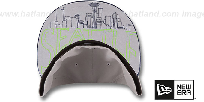 Seahawks '2015 NFL DRAFT' Grey-Navy Fitted Hat by New Era