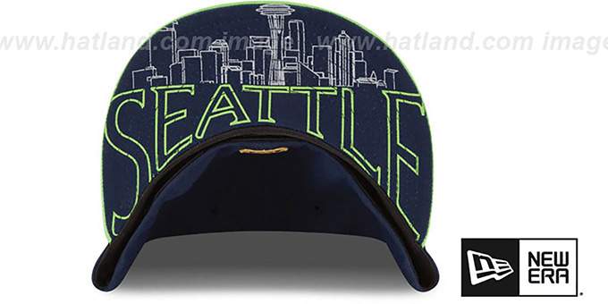 Seahawks '2015 NFL DRAFT' Navy-Lime Fitted Hat by New Era