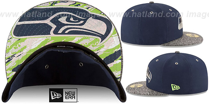 Seattle Seahawks 2016 NFL DRAFT Fitted Hat by New Era 42b7f4cd8
