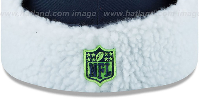 Seahawks 'FLURRY-FIT DOGEAR' Navy Fitted Hat by New Era
