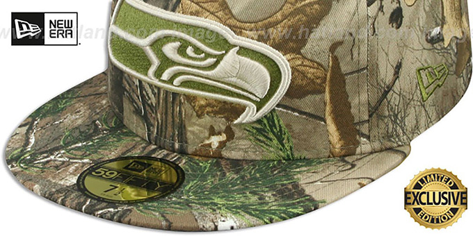 Seahawks 'NFL TEAM-BASIC' Realtree Camo Fitted Hat by New Era