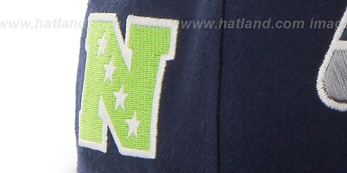 Seahawks 'SUPER-SHOT STRAPBACK' Navy Hat by Twins 47 Brand