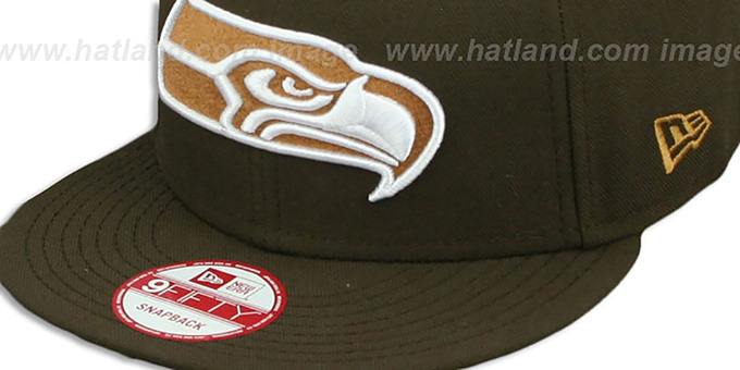 Seahawks 'TEAM-BASIC SNAPBACK' Brown-Wheat Hat by New Era