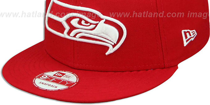 a51c66f95 ... Seahawks  TEAM-BASIC SNAPBACK  Red-White Hat by New Era