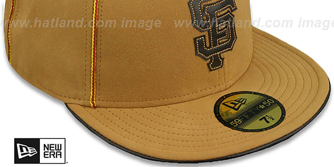 SF Giants 'DaBu' Camel Fitted Hat by New Era