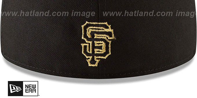 b24f40c8c59a88 ... SF Giants 'GOLD STATED METAL-BADGE' Black Fitted Hat by New Era