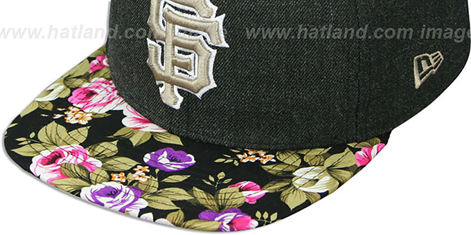 2c4a654d5b3 ... SF Giants  HEATHER BLOOM SNAPBACK  Charcoal-Black Hat by New Era